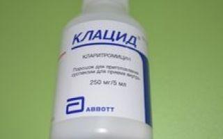 Суспензия «клацид» 125 и 250 мг — инструкция по применению для детей с расчетом дозировки антибиотика