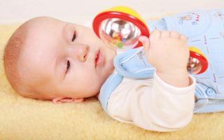 Когда новорожденному можно дать погремушку, во сколько месяцев ребенок начинает ее держать?