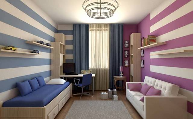 Детская для девочки и мальчика в общей комнате: дизайн интерьера для двоих разнополых детей разного возраста