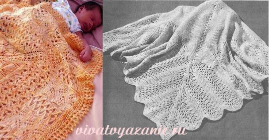 Описание пледа для новорожденного спицами: подробная схема вязания для начинающих с пошаговыми фото