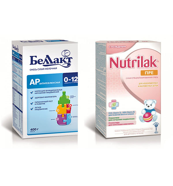 Список антирефлюксных смесей для новорожденных: обзор детского питания против срыгивания