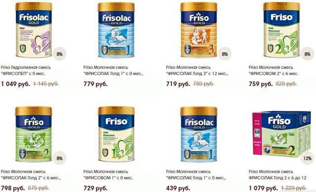 Обзор смесей friso (фрисолак и фрисо голд): состав детского питания и таблицы с инструкциями по применению
