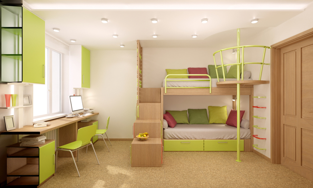 Дизайн интерьера детской комнаты для двоих детей: фото и варианты планировки
