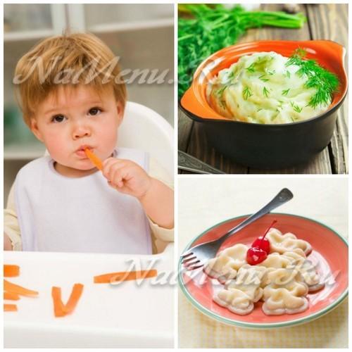Рацион питания ребенка после года: примерное меню для малыша от полутора до 2 лет с рецептами