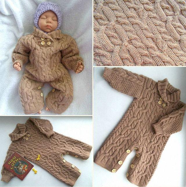 Пошаговое вязание комбинезона для новорожденного спицами: схема и подробный мастер-класс для начинающих
